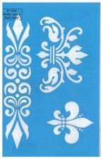 Pochoir motifs variée floral