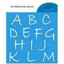 Alphabet stylisé majuscule 026