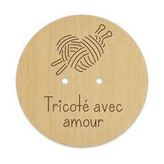 Bouton coeur de laine - tricote avec amour 027M