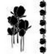 Pochoir Tulipes et Bordures