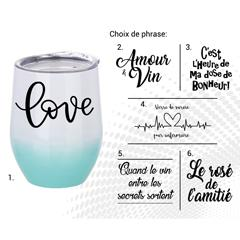 VERRE À VIN STAINLESS AC-522-3 LOVE B/T