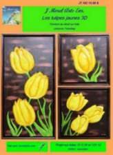 Les tulipes jaunes 3D