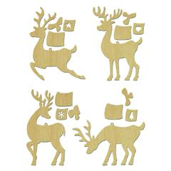 4 petits rennes (bois)