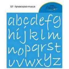 Alphabet stylisé minuscule 027