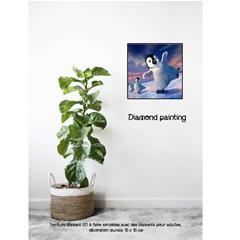 Diamond painting pingouin glisse