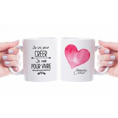 Tasse céramique - Je vis pour créer - 12 oz