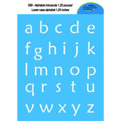 Alphabet minuscule 1,25'' 069