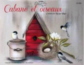 Cabane et oiseaux