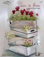 Caisse en fleurs