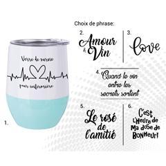 VERRE À VIN STAINLESS AC-521-3 LOVE B/T