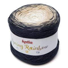 Spring Rainbow 50 - Bleu foncé-Beige-Blanc