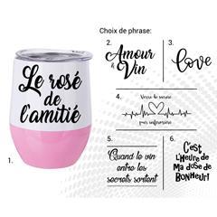 VERRE À VIN STAINLESS AC-521-2 LE ROSÉ DE L'AMITIÉ B/R