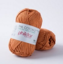 Phil coton no. 3 50g Cuivre