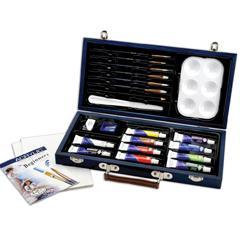 Kit parfait pour le débutant peinture acrylique (bleu)