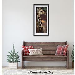 Diamond painting la girafe