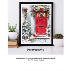 Diamond painting la porte rouge