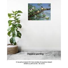 Diamond painting les amoureux sur la branche