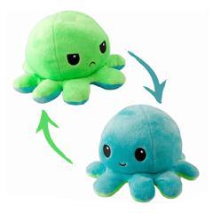 Pieuvre reversible - Vert et bleu