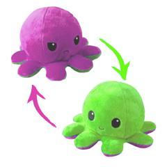 Pieuvre reversible - Violet et vert