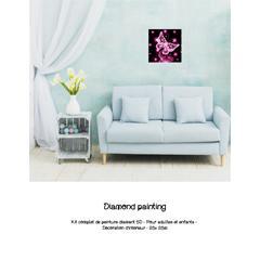 Diamond painting papillon rose