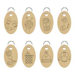Anneaux marqueur en bois - Beau tricot