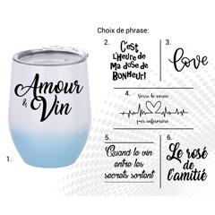 VERRE À VIN STAINLESS AC-522-1 LE ROSÉ DE L'AMITIÉ B/B