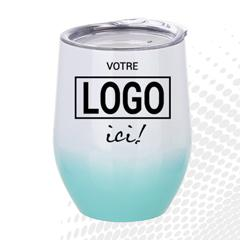 VERRE À VIN STAINLESS AC-522-PERSO BLANC ET TURQUOISE