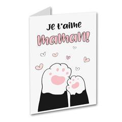 Carte de souhait - Je t'aime maman!
