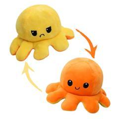 Pieuvre reversible - Jaune et orange