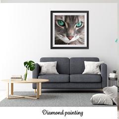 Diamond painting Les yeux vert