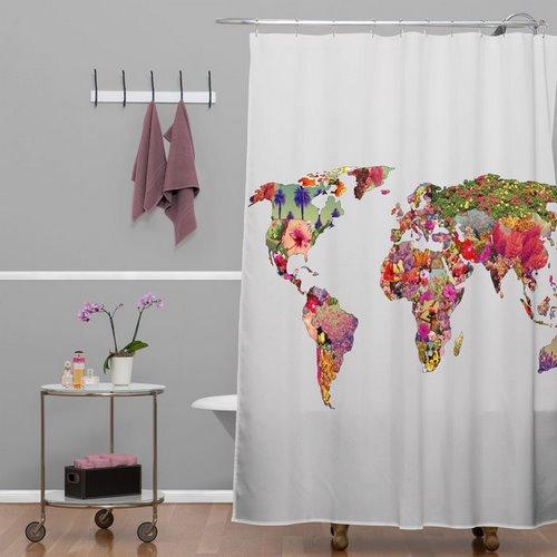 DENY DESIGN rideau de douche monde