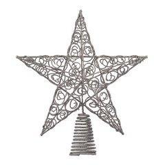 KURT ADLER étoile argentée