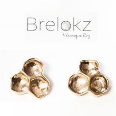 Boucles d'oreilles rayons de miel bronze