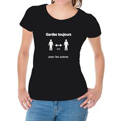 Gardez toujours 2 m avec les autres - Femme - XL