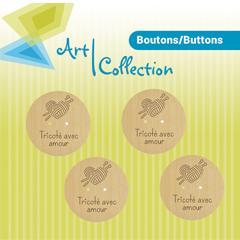 027 Bouton tricoté avec amour M