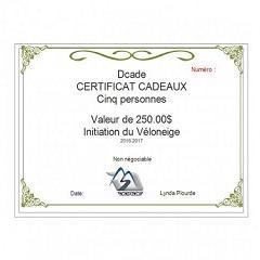 Certificat Cadeaux