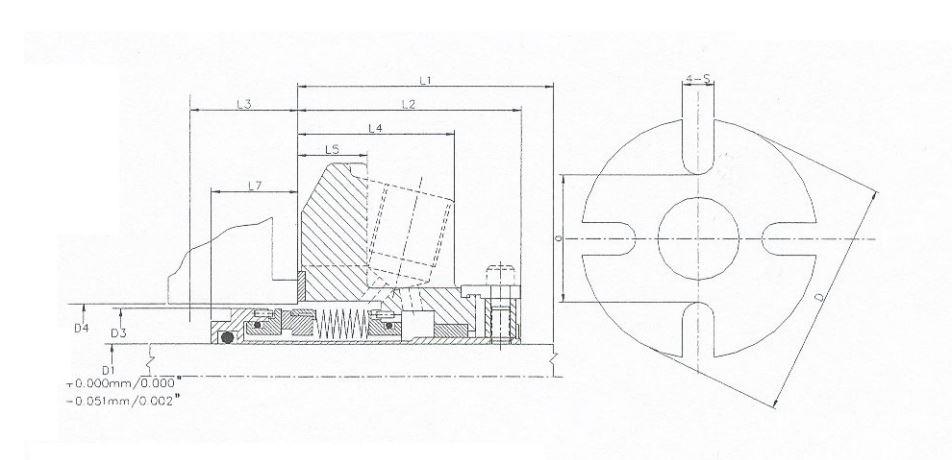 Mb100 métal bellow simple