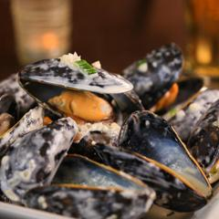 Moules Bleu & Brandy