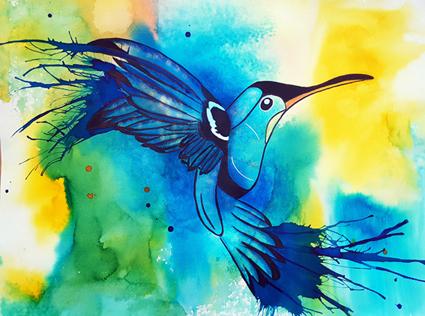 # 126 Colibri par Carole Bonneau