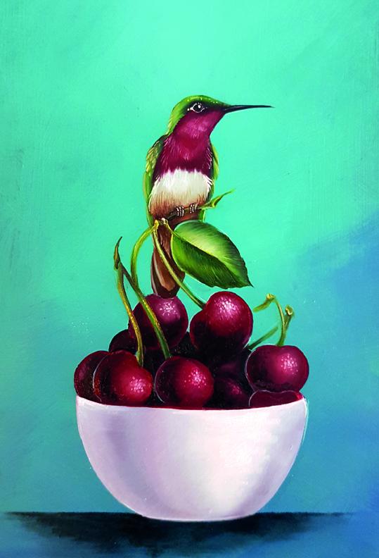 # 132 Colibri et cerises par Willow Wolfe