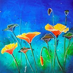 # 146 Pavot Orange par Carole Bonneau