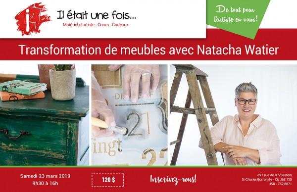 Atelier de transformation de meubles avec Natacha Watier