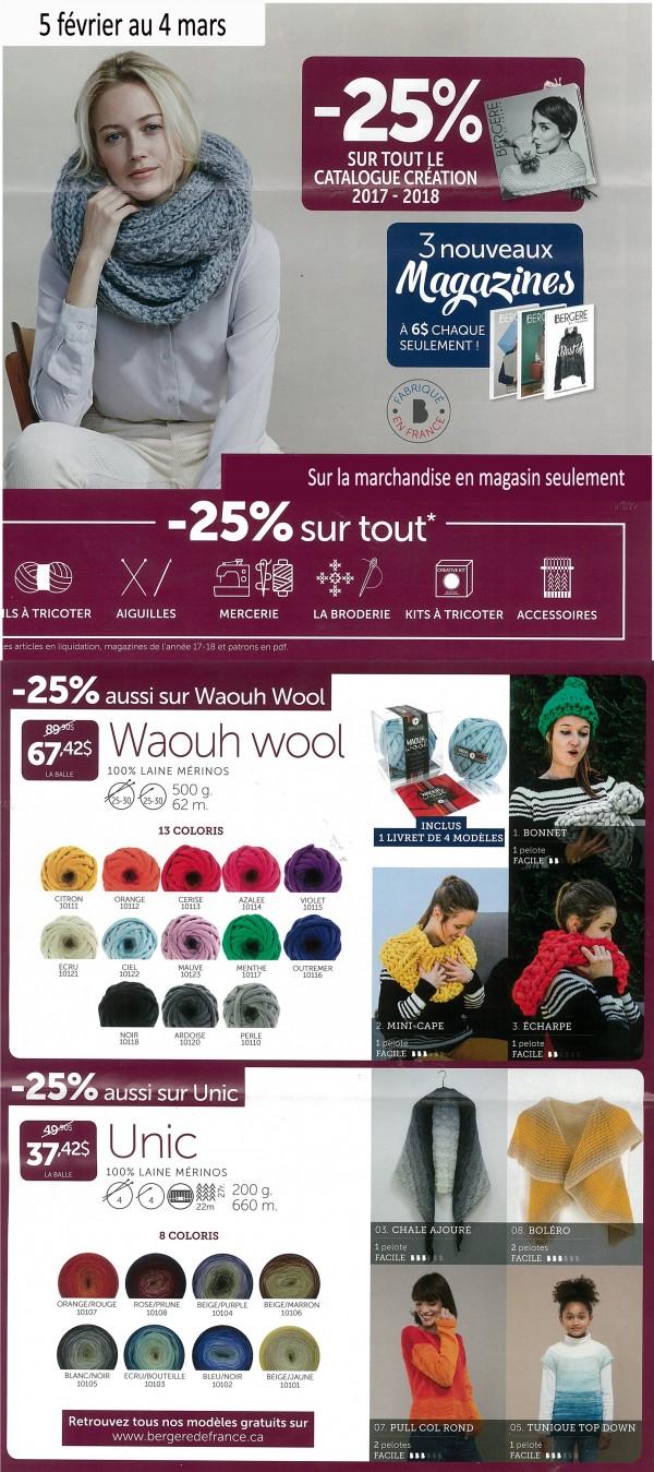 Promotion Bergère de France 5 février au 4 mars