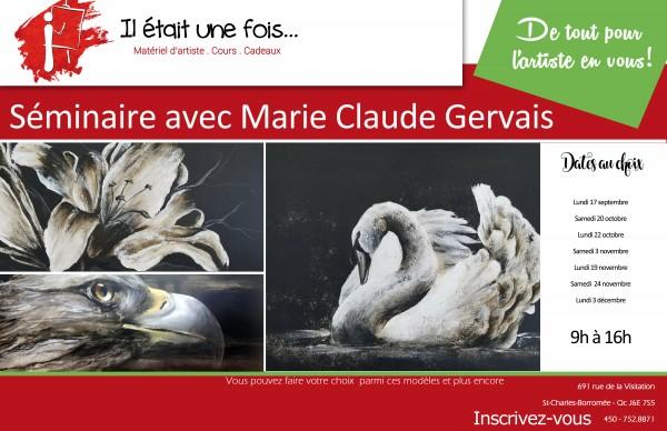 Séminaire avec Marie Claude Gervais, peinture à la cendre
