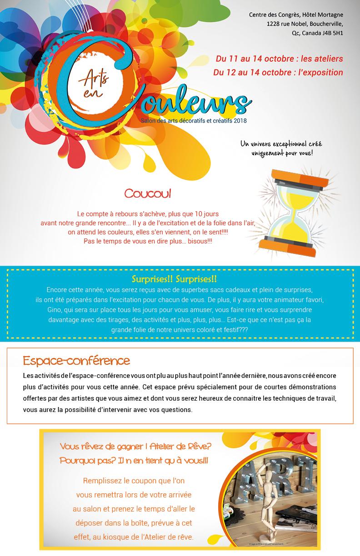 Salon des arts en couleurs - infolettre 9