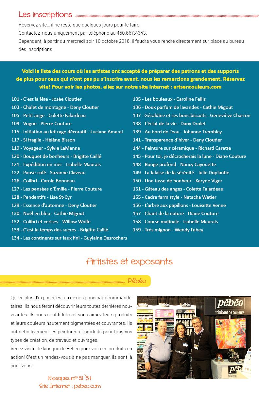 Salon des arts en couleurs - Bulletin no 10