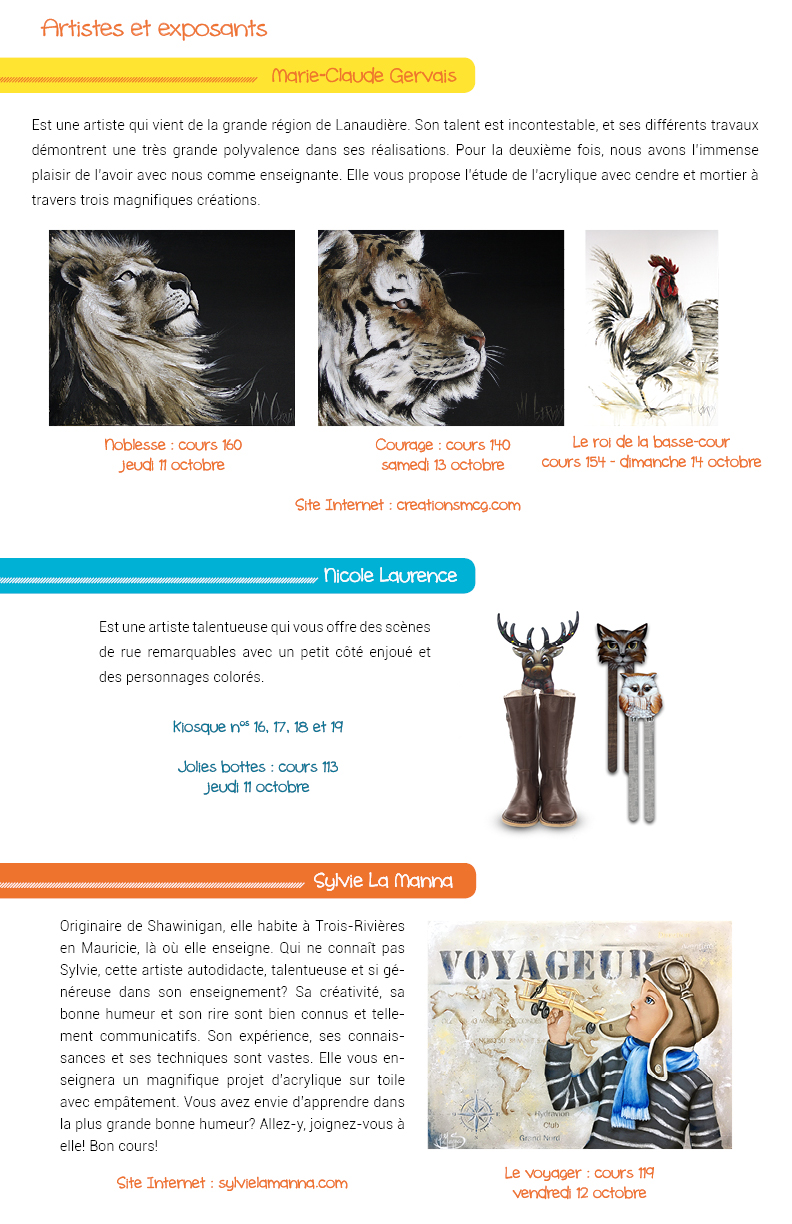 Salon des arts en couleurs - Bulletin no 3