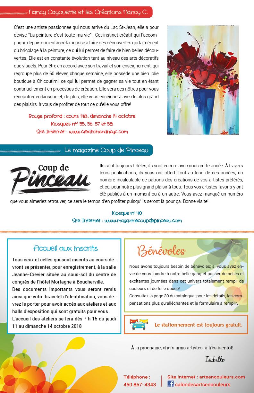 Salon des arts en couleurs - Infolettre 7