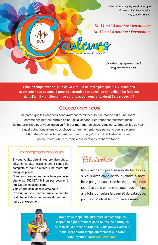 Salon des arts en couleurs - Bulletin no 5