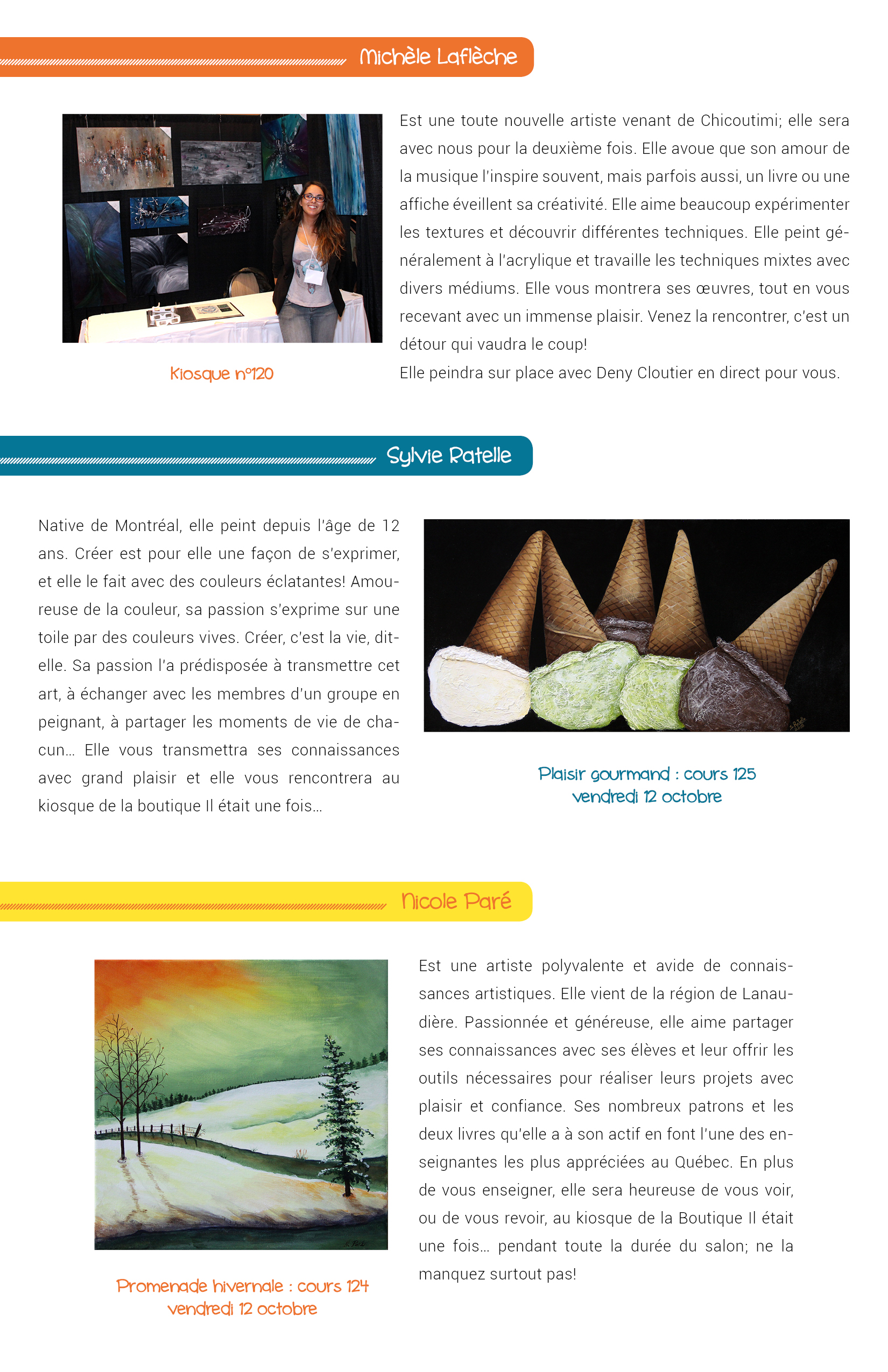 Salon des arts en couleurs - Bulletin no 1